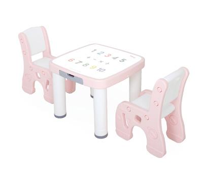 책상의자-핑크